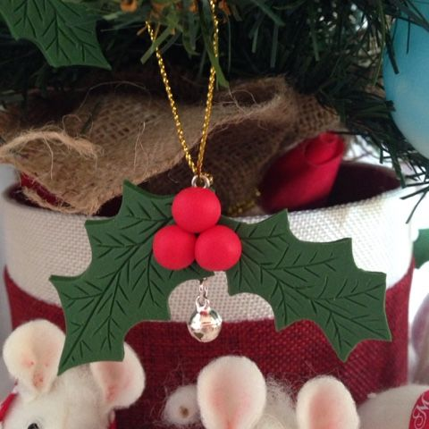 ilfilodelleidee: Decorazioni natalizie fatte a mano in fimo per l'albero di Natale