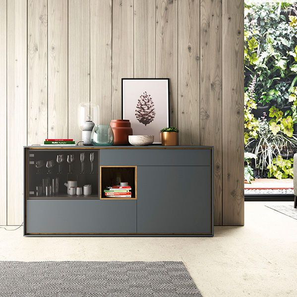 Credenza moderna / in legno / in vetro / in MDF laccato A04 VIVE - MUEBLES VERGE S.L.