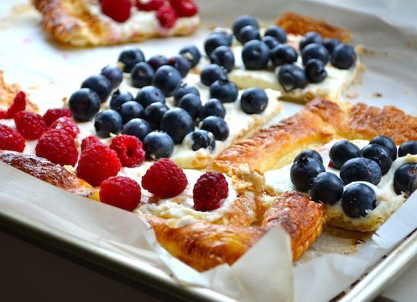 Raspberry & Blueberry Cream Cheese Tart from Rachel Schultz