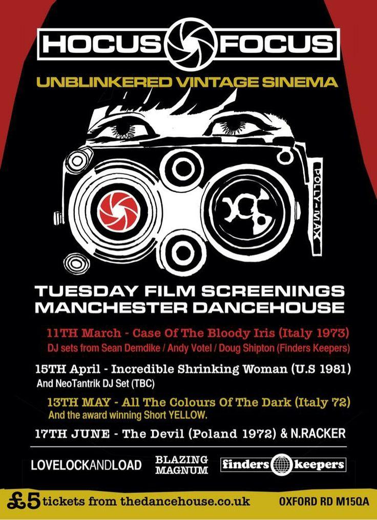Hocus Focus film screenings at The Dancehouse in Manchester.