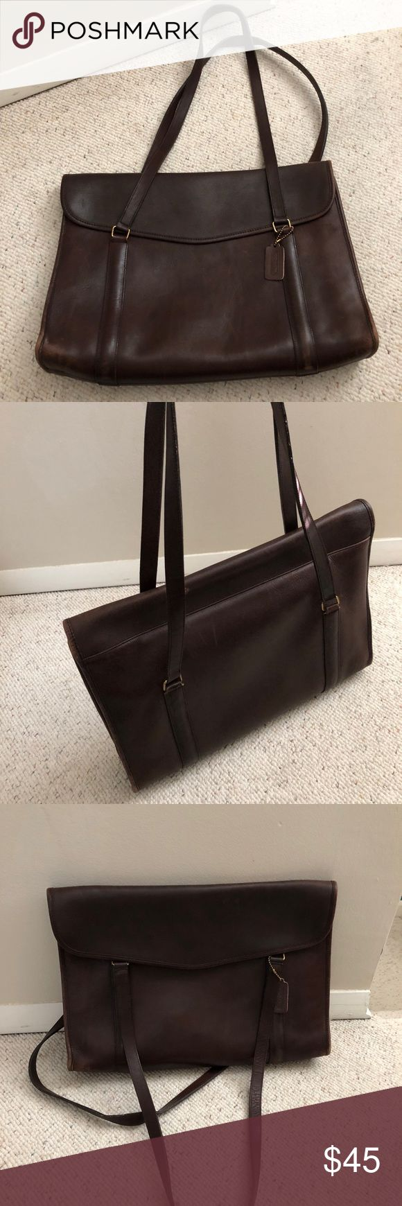 Vintage Coach briefcase Vintage Coach briefcase leather Coach Bags Totes