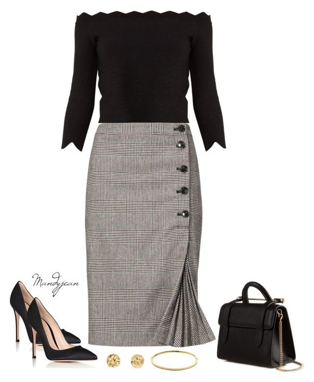 Untitled #798 by mandyjeanb87 on Polyvore featuring Alexander McQueen, Banana Republic, Gianvito Rossi, Strathberry and Melissa Odabash