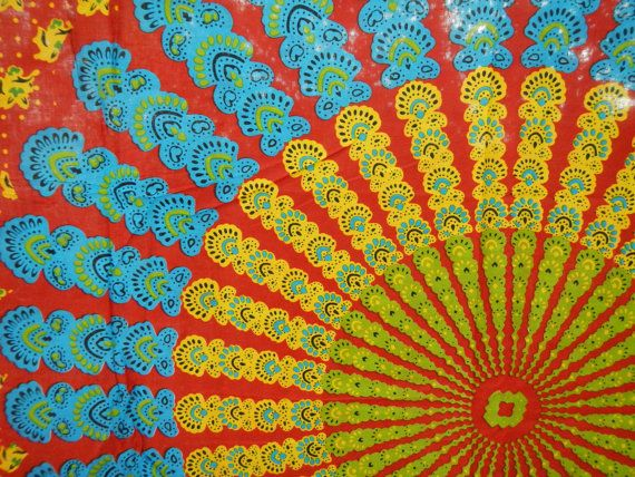 Hippie Tapestry Fabric Colorful Bohemian by SticksandStonesHemp1- Beautiful and very great prices!