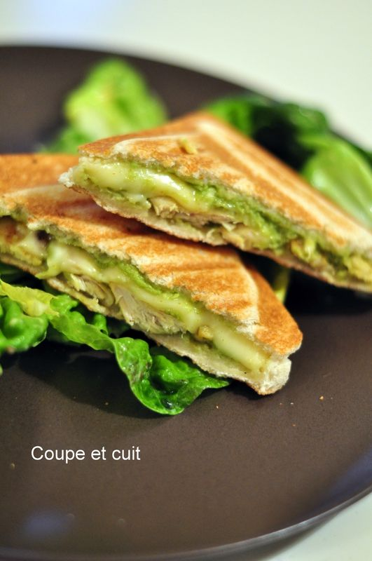 Croque-monsieur poulet/curry et guacamole
