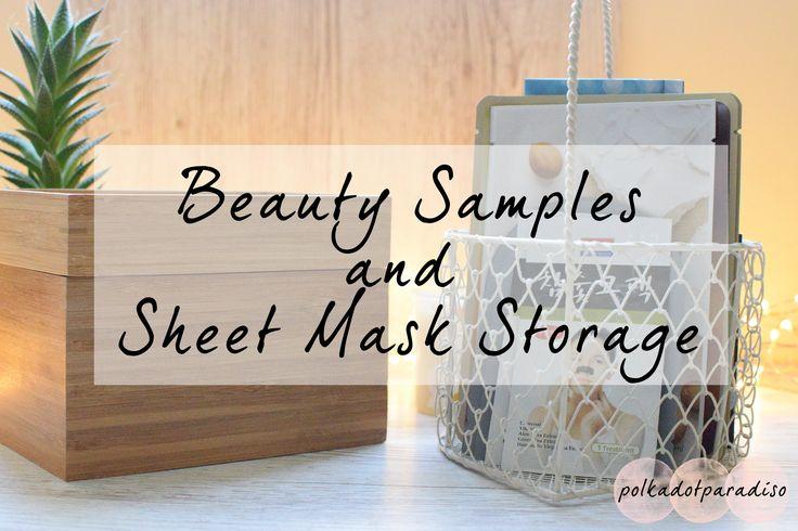 Sheet Mask Storage   Beauty Organisation