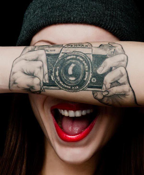 20 Camera Tattoos For Photographers
