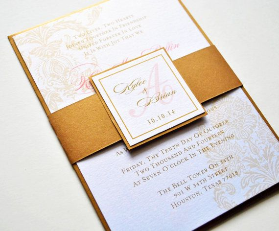 the 25+ best coral wedding invitations ideas on pinterest | coral, Wedding invitations