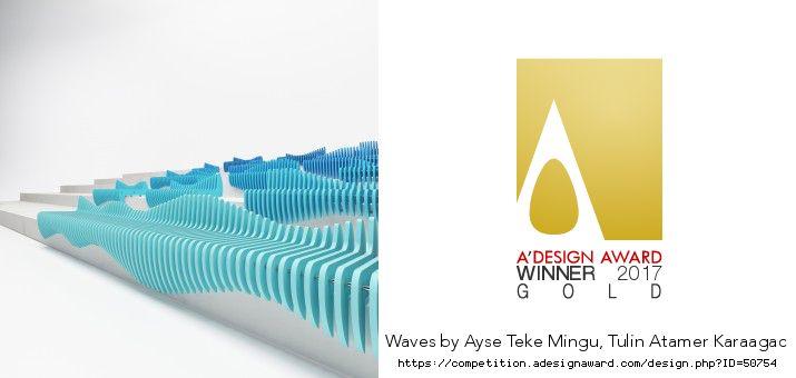 Waves Stair Seating Golden A' Design Award Winner for Street Furniture Design Category in 2017.  Waves Merdiven Oturma  2017 A' Design Award'da Sokak Mobilya Tasarım Kategorisinde Altin Ödülü aldı.  https://competition.adesignaward.com/winners-category.php?CATEGORY=61  https://competition.adesignaward.com/design.php?ID=50754  by Tulin + Ayse / Studio 34 Ayşe Teke Mingü - Tülin Atamer Karaağaç