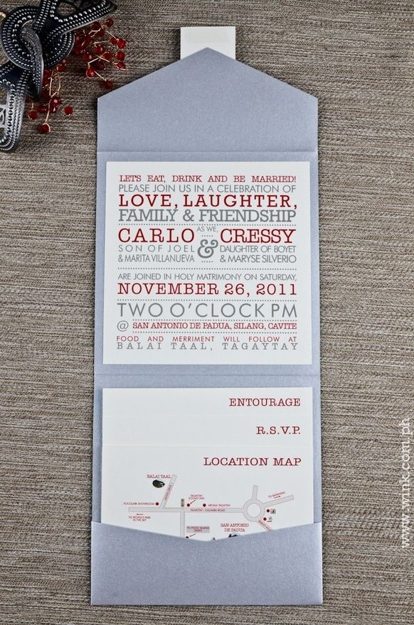 funny wedding invitation rsvp goes viral%0A Love the envelope style and the way everything fits in neatly  Cute and fun  invite