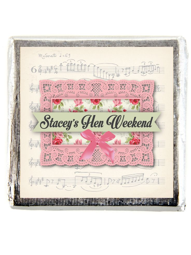 X10 Musical Notes Hen Party Personalised Chocolate Favours