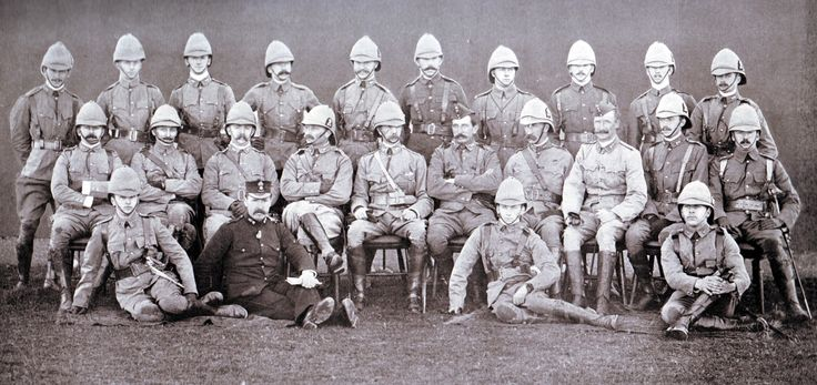 Officers of 1st Royal Dublin Fusiliers:  the Battalion led Hart's disastrous attack at the Battle of Colenso on 15th December 1899 during the Boer War