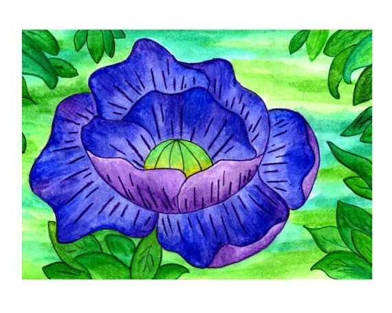 ~ Purple Flower Watercolour Printable ~ *PLEASE NOTE THIS LISTING IS FOR A DIGITAL FILE*  [ITEM DESCRIPTION]  - This image is in a pdf file of