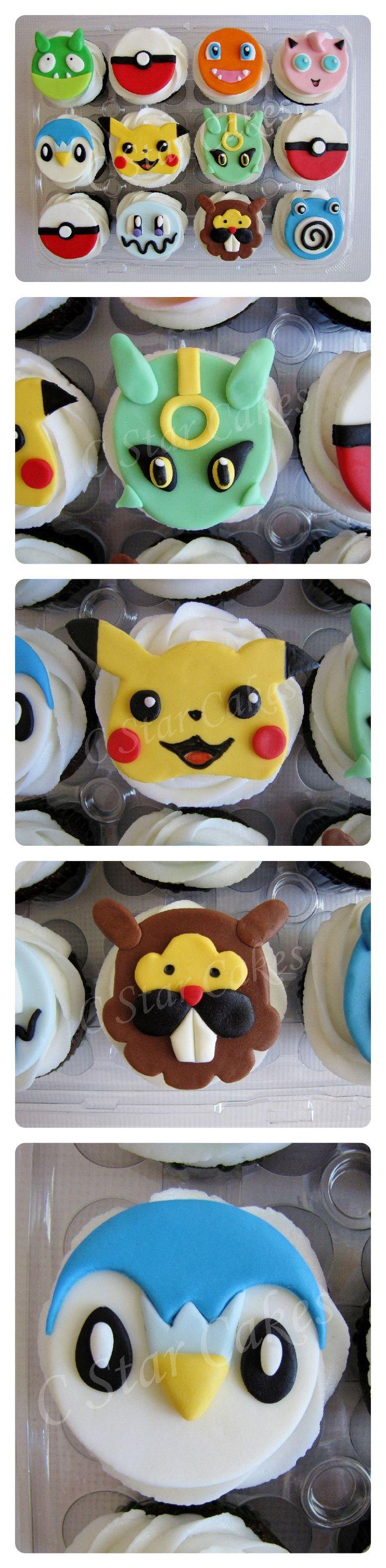 Pokémon cupcakes by C Star Cakes #cstarcakes #pokemon
