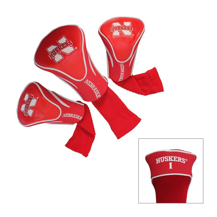 Ncaa 3 Pack Contour Head Covers, Golf Club Headcovers