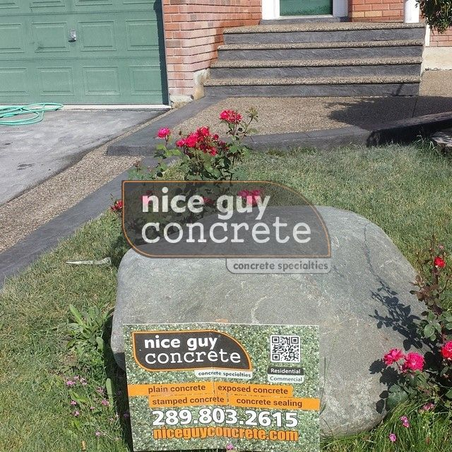exposed aggregate concrete contractor in Mississauga, Ontario #exposedaggregate #concrete