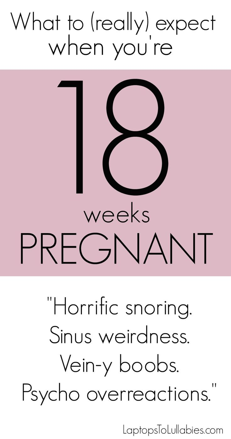 What to REALLY expect when you're 18 weeks pregnant. #week19 #pregnancy