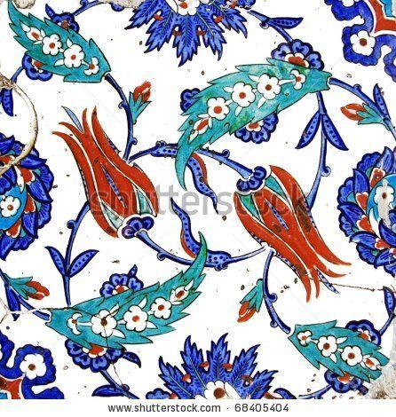 Ancient Handmade Turkish Tiles by muharremz, via ShutterStock