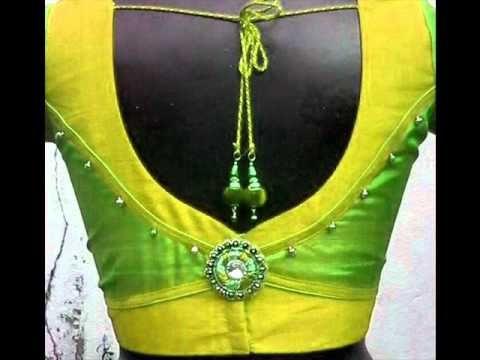patch work blouse back neck design   Saree Blouse Designs - YouTube