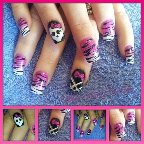 Monster High & Tiger Art by melaniemilti77 from Nail Art Gallery