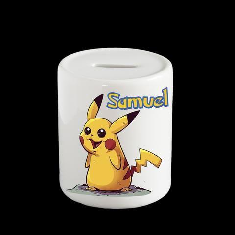 Personalised Pikachu Pokemon Piggy Bank