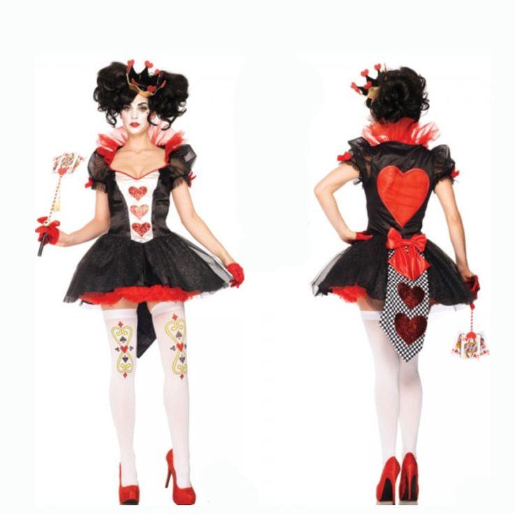 Хэллоуин костюмы женские костюмы для взрослых косплей черное сердце сердец Королева Королева подмены спектакли Униформа - Taobao