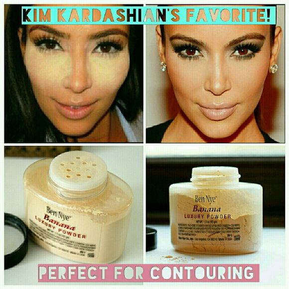 KIM KARDASHIAN'S BEN NYE BANANA LUXURY POWDER BEN NYE BANANA LUXURY POWDER  100% AUTHENTIC  A KIM KARDASHIAN'S FAVORITE! GREAT TO SET CONCEALER AND HIGHLIGHT! 1.5OZ  MORE MAKEUP AND PROFESSIONAL BRUSH KIT AVAILABLE IN MY PAGE, BUNDLE AND SAVE!!! Makeup Face Powder