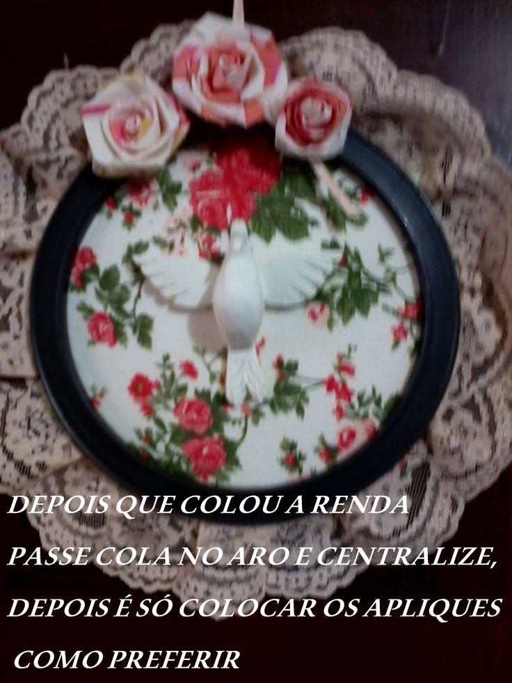 divino ,flores de feltro rendas isopor tecidos aro de filtro de café