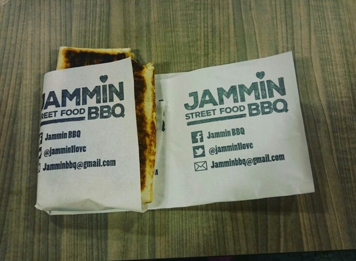 Jerk Chicken and Mango wrap from Jammin Street Food at Kerbside Kitchen, Fargo Village, Coventry