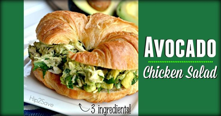 If you are looking for a super easy and yummy meal you can throw together with leftover chicken, try this easy and healthy avocado chicken salad!