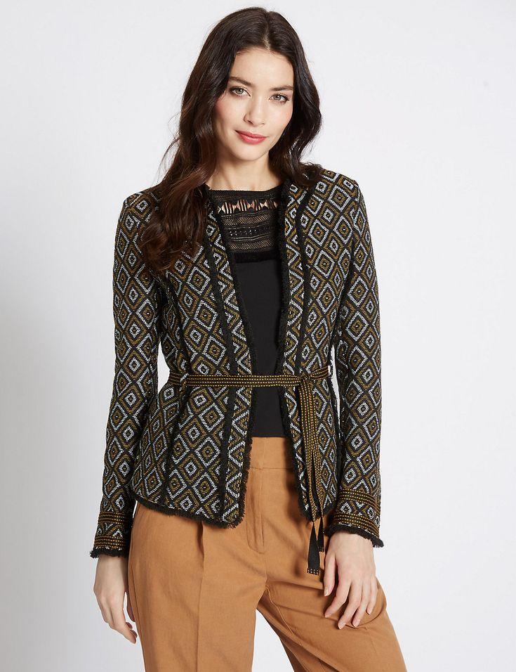 Жакет с геометрическим принтом | Marks & Spencer