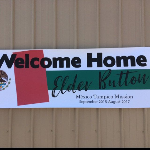 Printable Personalized Welcome Home Return Missionary
