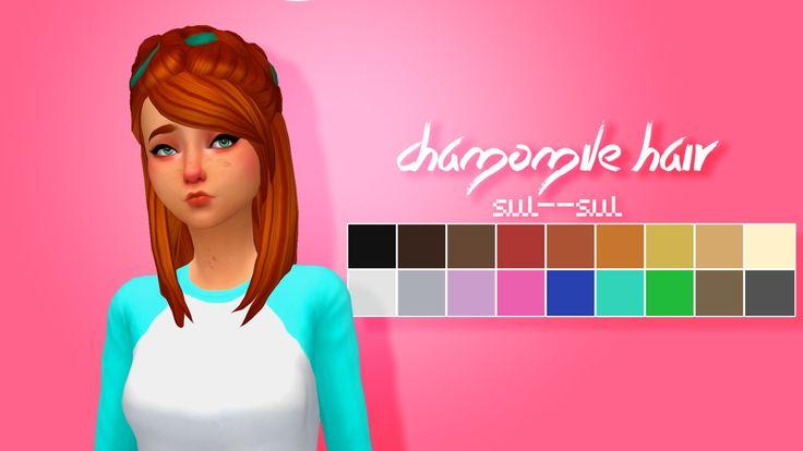 Sul Sul: Chamomile Hair  - Sims 4 Hairs - http://sims4hairs.com/sul-sul-chamomile-hair/