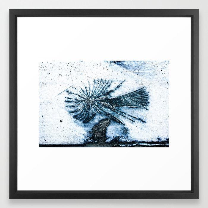 Blue Angel Framed Art Print #photography #abstract #wallart #homedecor #rust #blueangel
