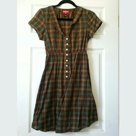 Reduced! Plaid is in! Cute & simple dress Plaid dress from active skate shop. Cotton. active skate shop  Dresses