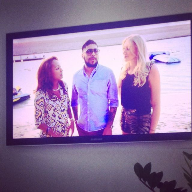 Us on TV for the first time with Ryan from Blue Marlin, Dubai