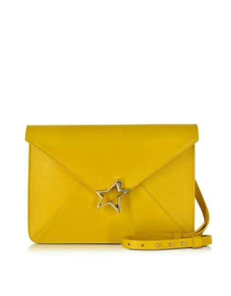 CORTO MOLTEDO TIFFANY STAR YELLOW LEATHER SHOULDER BAG