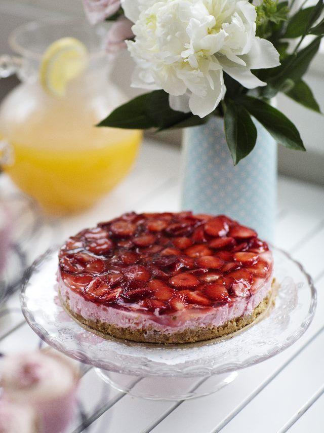 Helppo amerikkalainen juustokakku   Easy american cheese cake   Unelmien Talo&Koti Kuva: Anssi Kienanen Toimittaja: Anette Nässling