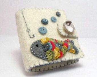 Felt Needle Book / Rainbow Fish by BananaBugAndZod on Etsy