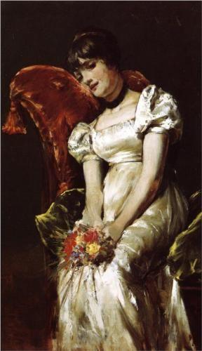 A Girl - Pierre-Auguste Renoir c.1885 Gallery: Bridgestone Museum of Art, Tokyo, Japan