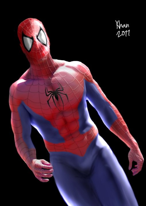 Spiderman - photoshop by hubby.