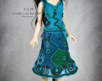 BJD Volks Dress Handmade Crochet Irish Lace