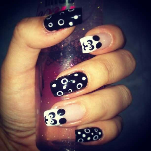 #panda #nails #nailart
