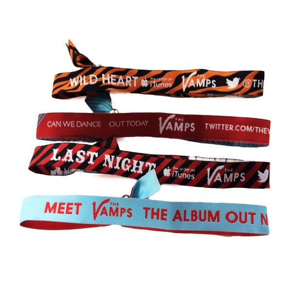 The Vamps - The Vamps Singles/Album Poly Woven Wristbands 4 Pack - TM Stores
