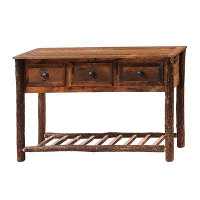 Fireside Lodge Furniture B1414 Barnwood Console Table