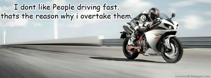 Biker Boys Quote Facebook Cover