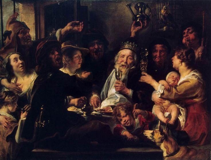 jacob jordaens paintings | The Bean King (The King Drinks)