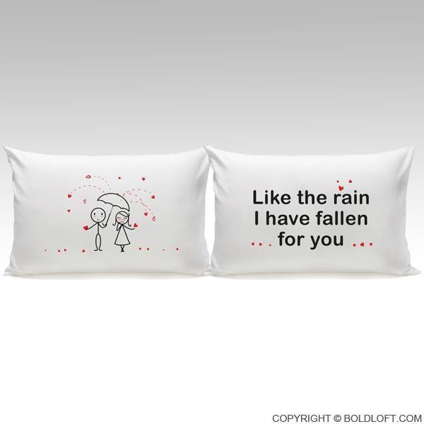 Copripiumino Lui Lei.I Ve Fallen For You Couple Pillowcase Set Couple Pillowcase
