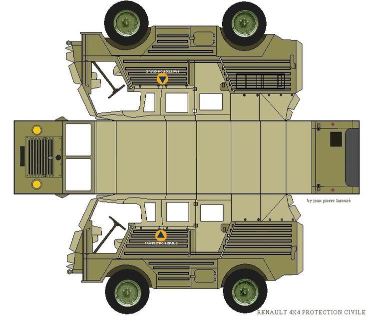 RENAULT 4X4 SINPAR | templates paper véhicules | Maquette ...
