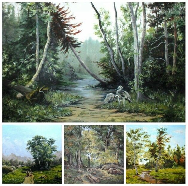 Oil paintings landscapes