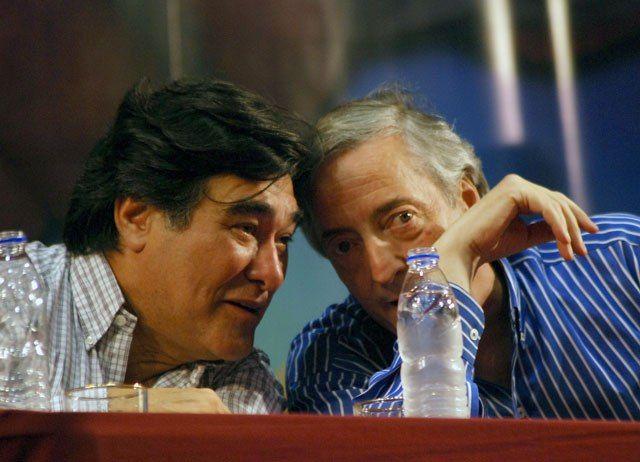 Carlos Zannini junto a Néstor Kirchner - Foto: OPI Santa Cruz/Francisco Muñoz